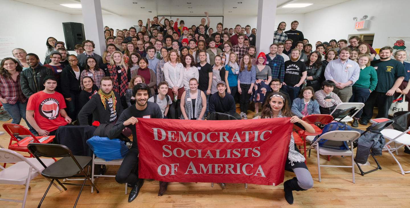 YDSA members at the Winter 2017 National Conference in New York City