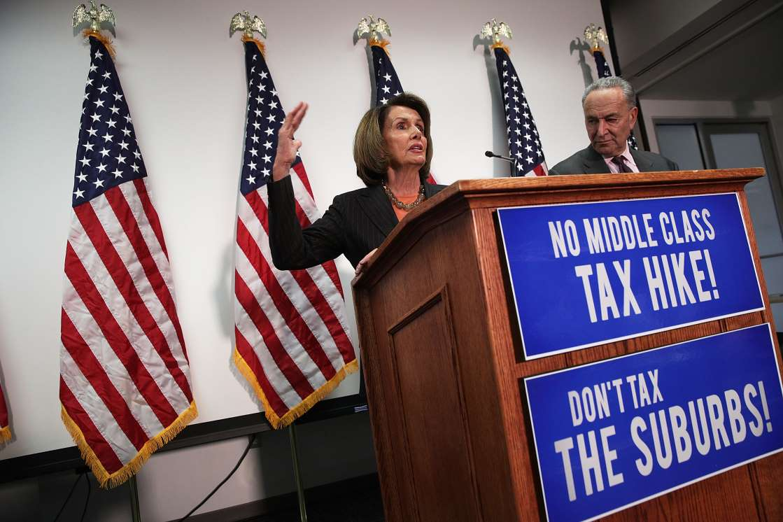 Nancy Pelosi and Chuck Schumer defend the suburbs