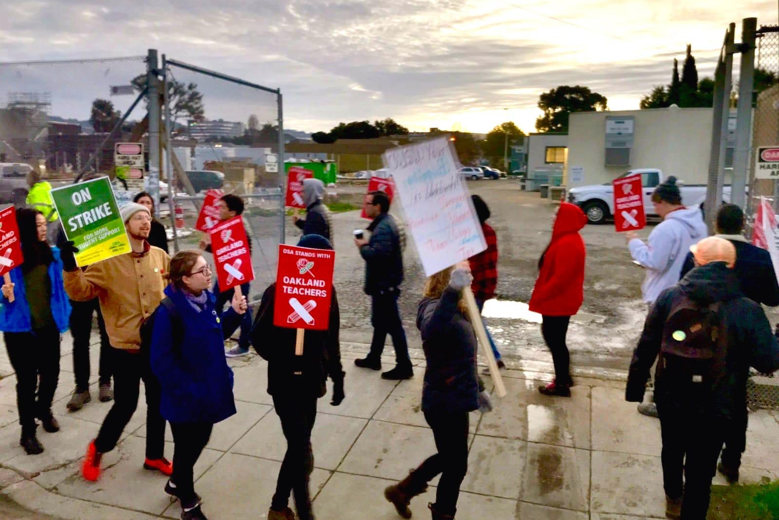 DSA members join a picket line in Oakland