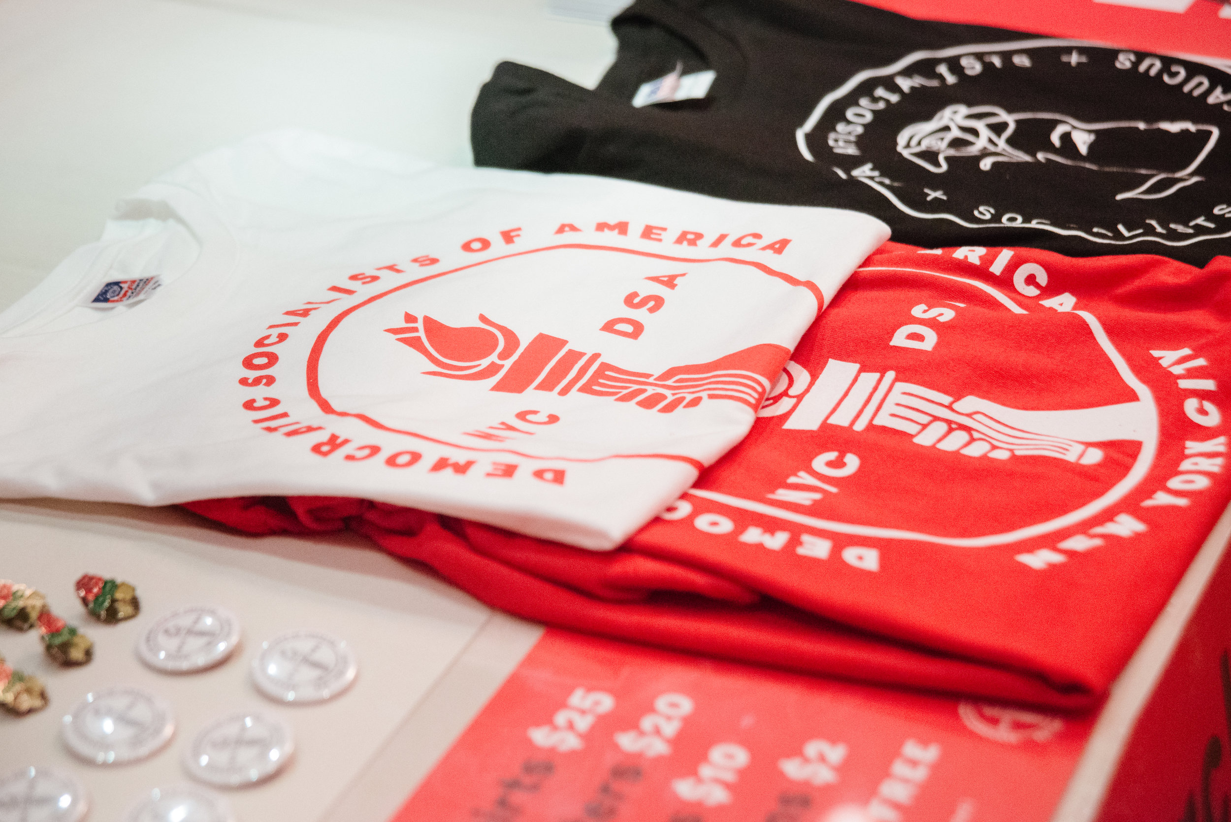 NYC-DSA chapter merchandise