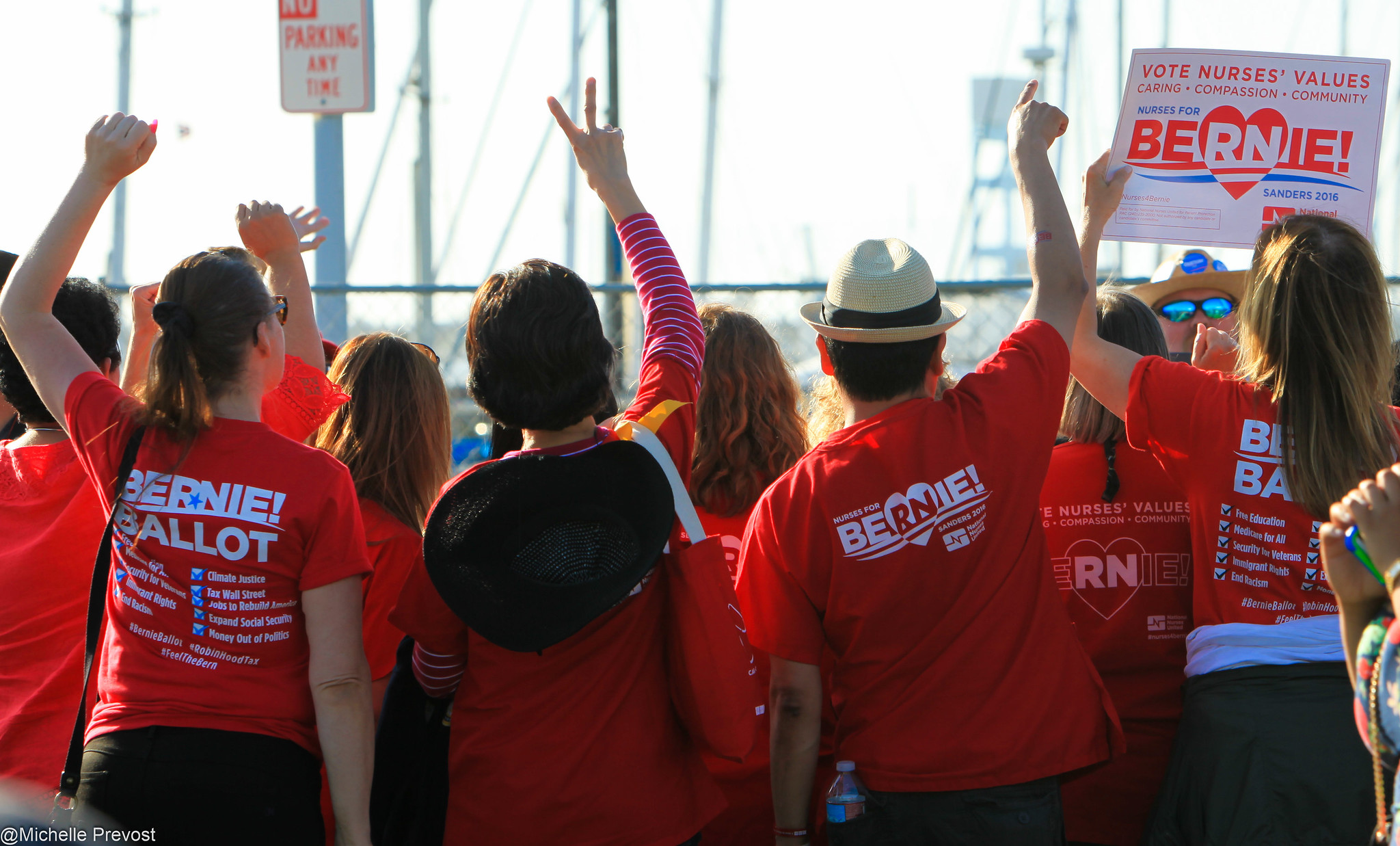 Nurses rally for Bernie in Vallejo, California