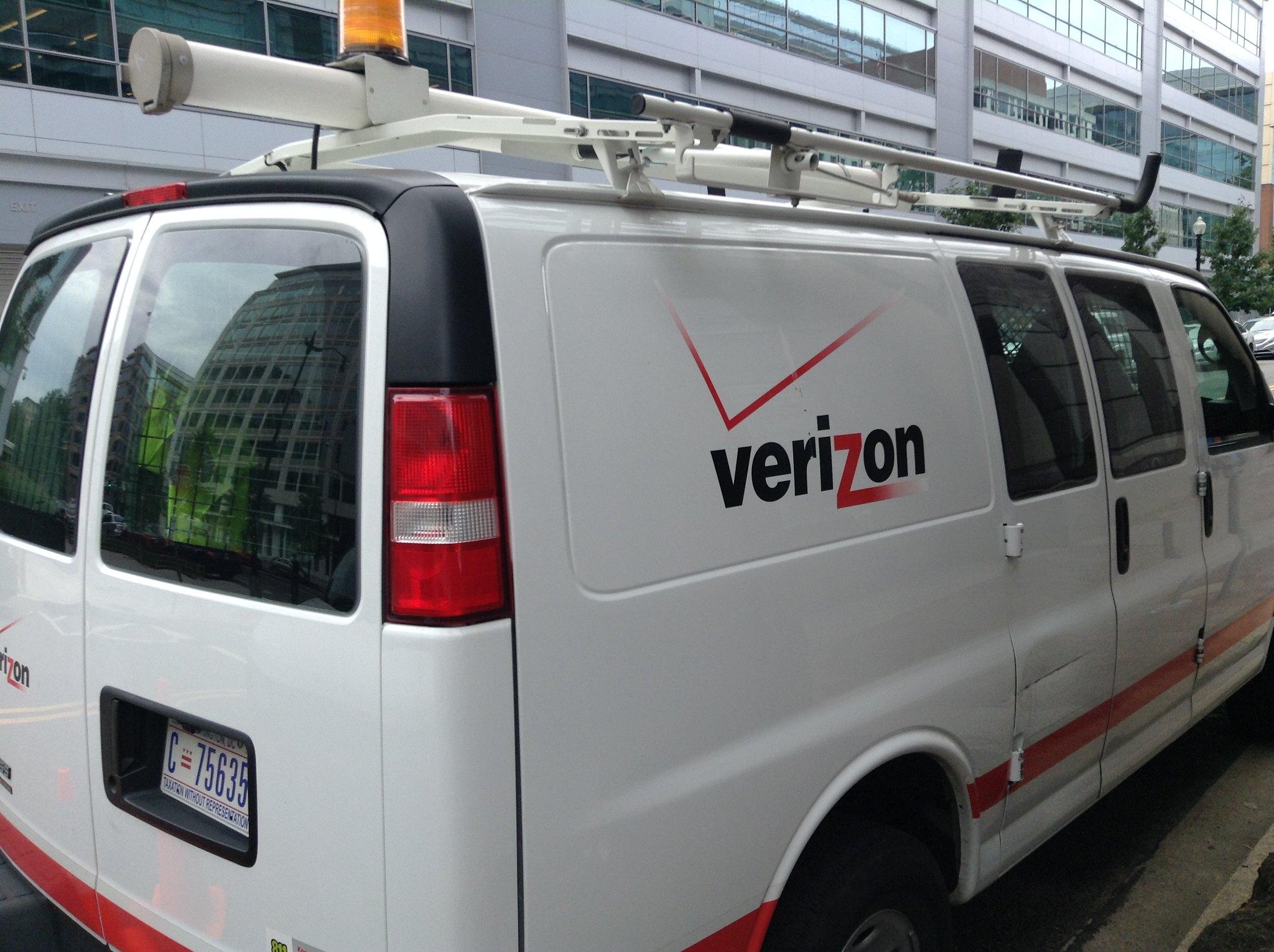 Verizon work van